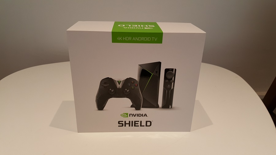 test nvidia shield cloud gaming boîte packaging vu avant