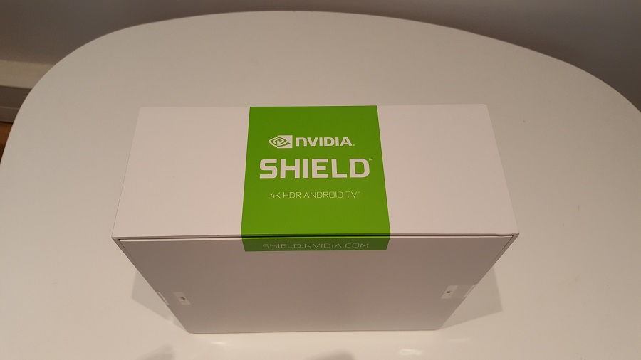 test nvidia shield cloud gaming unboxing dessus boîte