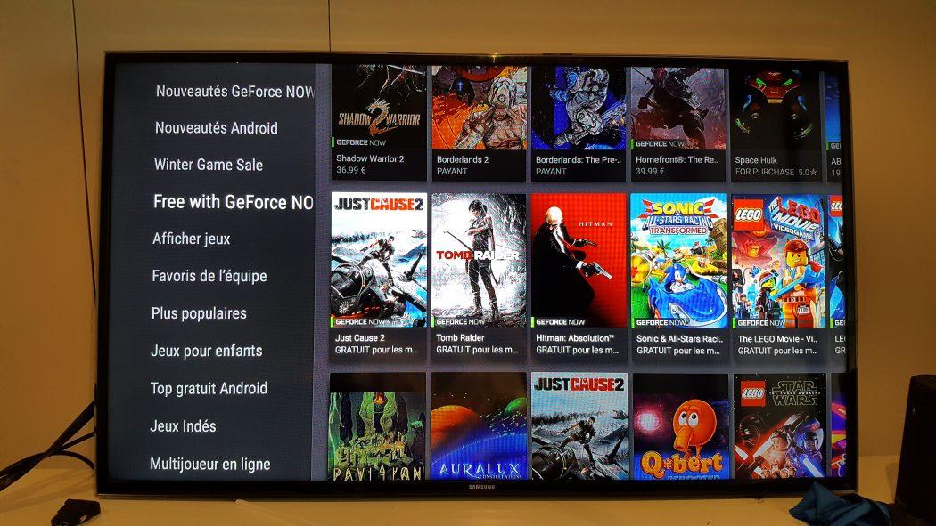 test nvidia shield cloud gaming utilisation fonctionnalités geforce now jeux